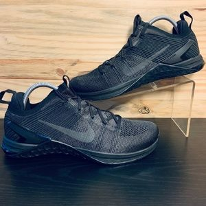 New Nike Metcon Flyknit 2 Cross Train Triple Black